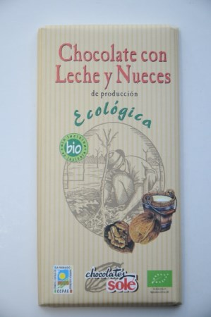 Chocolate con leche y nueces ECO