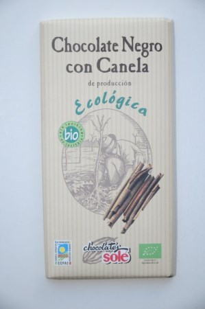 Chocolate Negro 56% con canela ECO